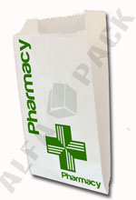 Alfa Pack Modern RX (pharmacy) paper bag.